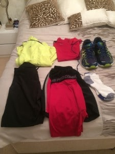 marathon kit on bed 2