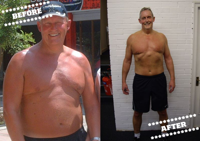 Dave McInnes before and after