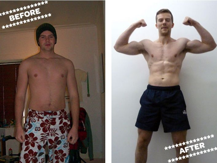 Graeme before and after
